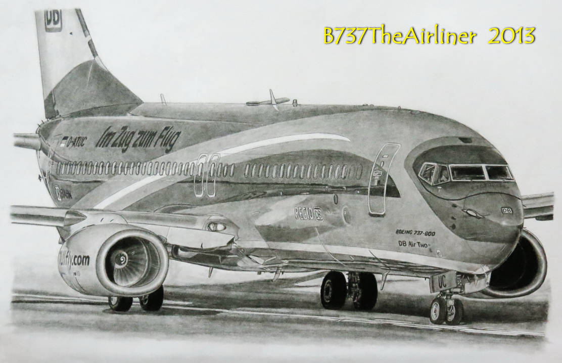 Tuifly Boeing 737 800 Realistic Drawing By A320theairliner On