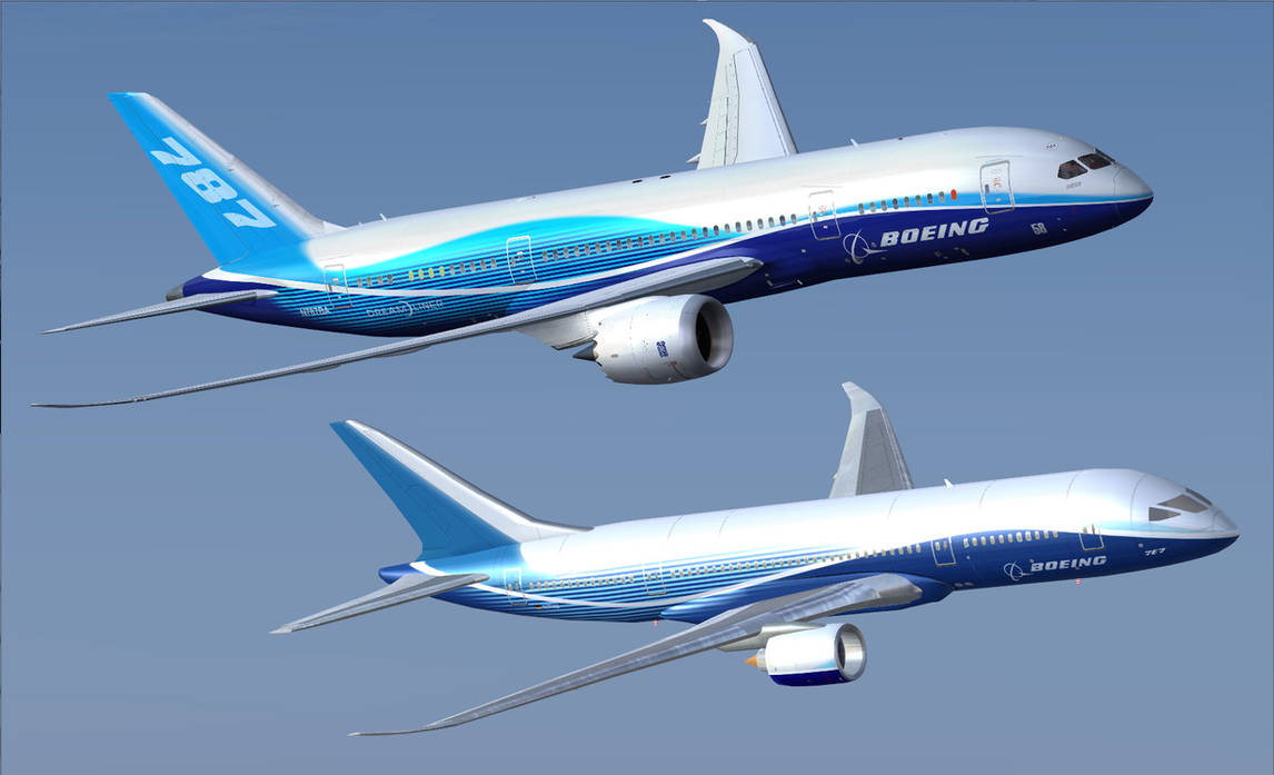 Boeing 787 Meets 7E7 by A320TheAirliner on DeviantArt