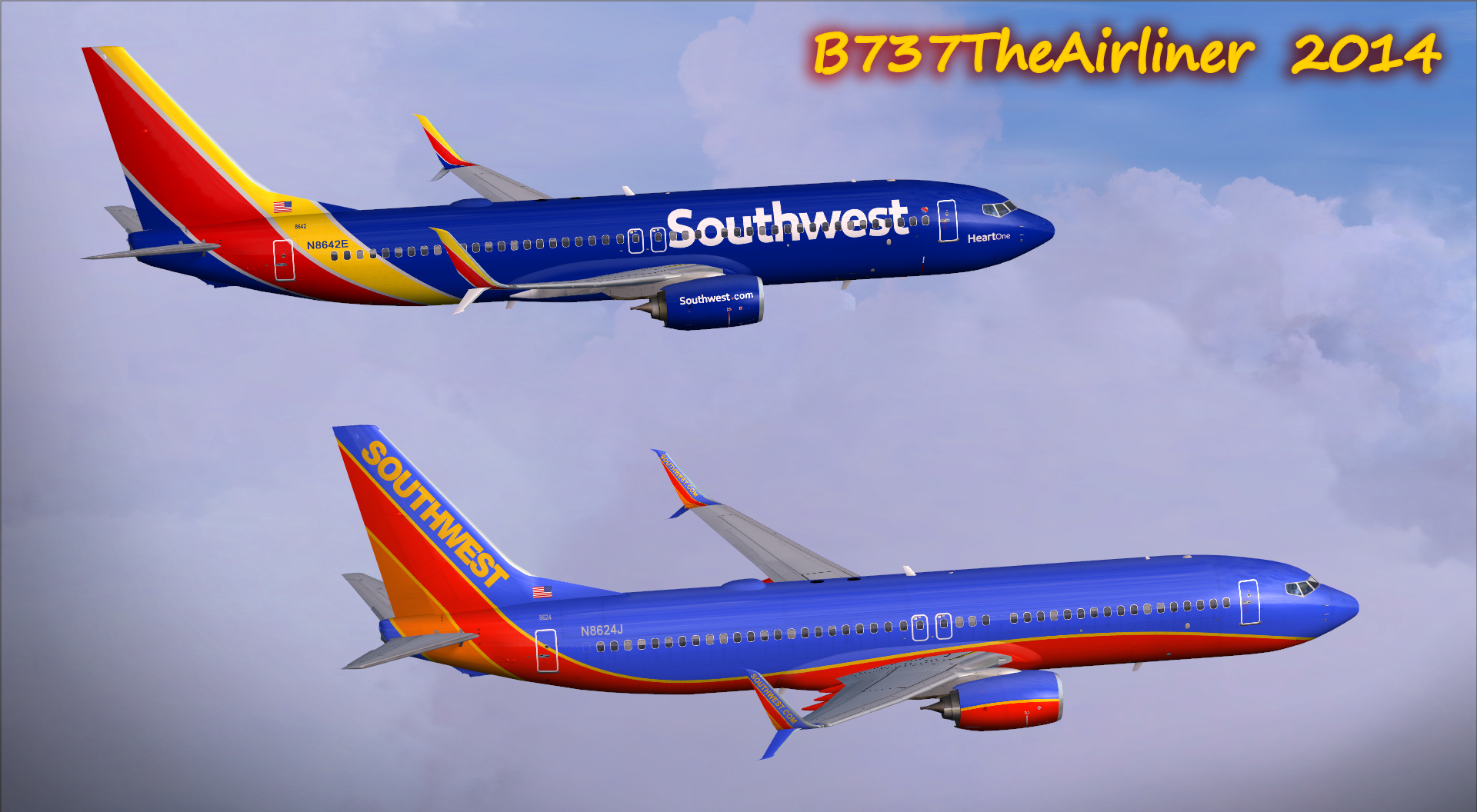Southwest Airlines 737-800's by A320TheAirliner on DeviantArt