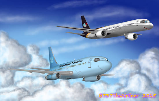 Macindows and Windows 7 Starter Plane by A320TheAirliner