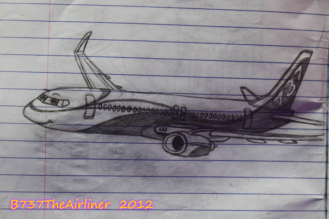 First living 737 drawing (October 2012) by A320TheAirliner