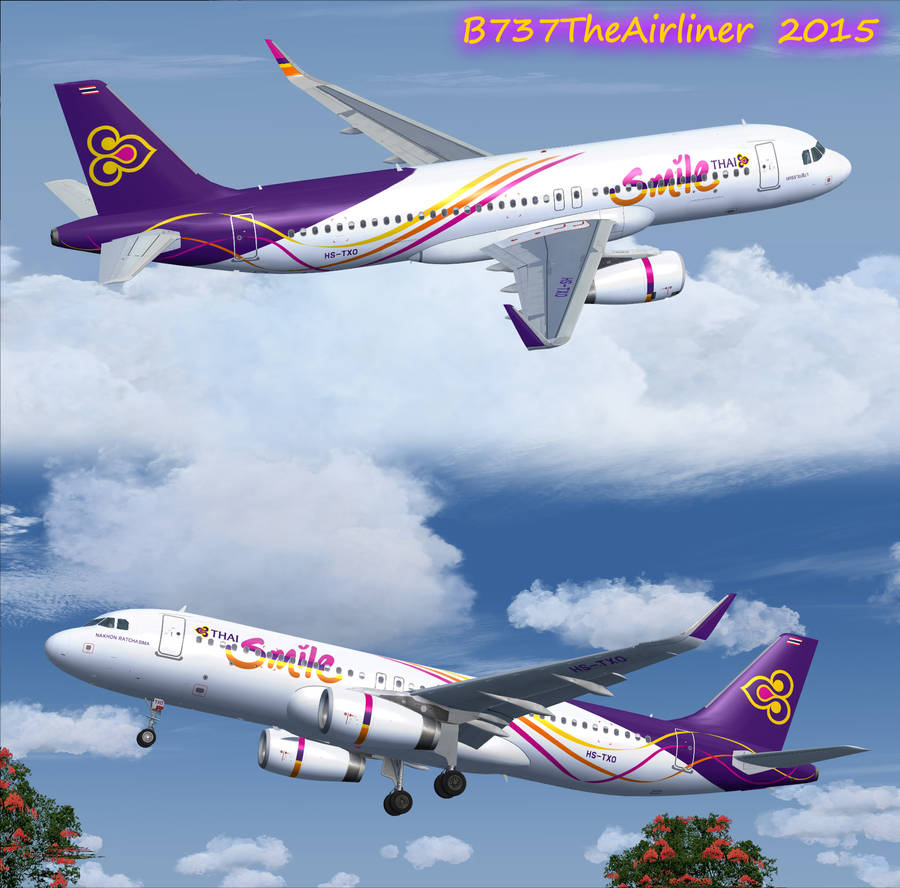 Thai Smile A320-232 Repaint by A320TheAirliner on DeviantArt