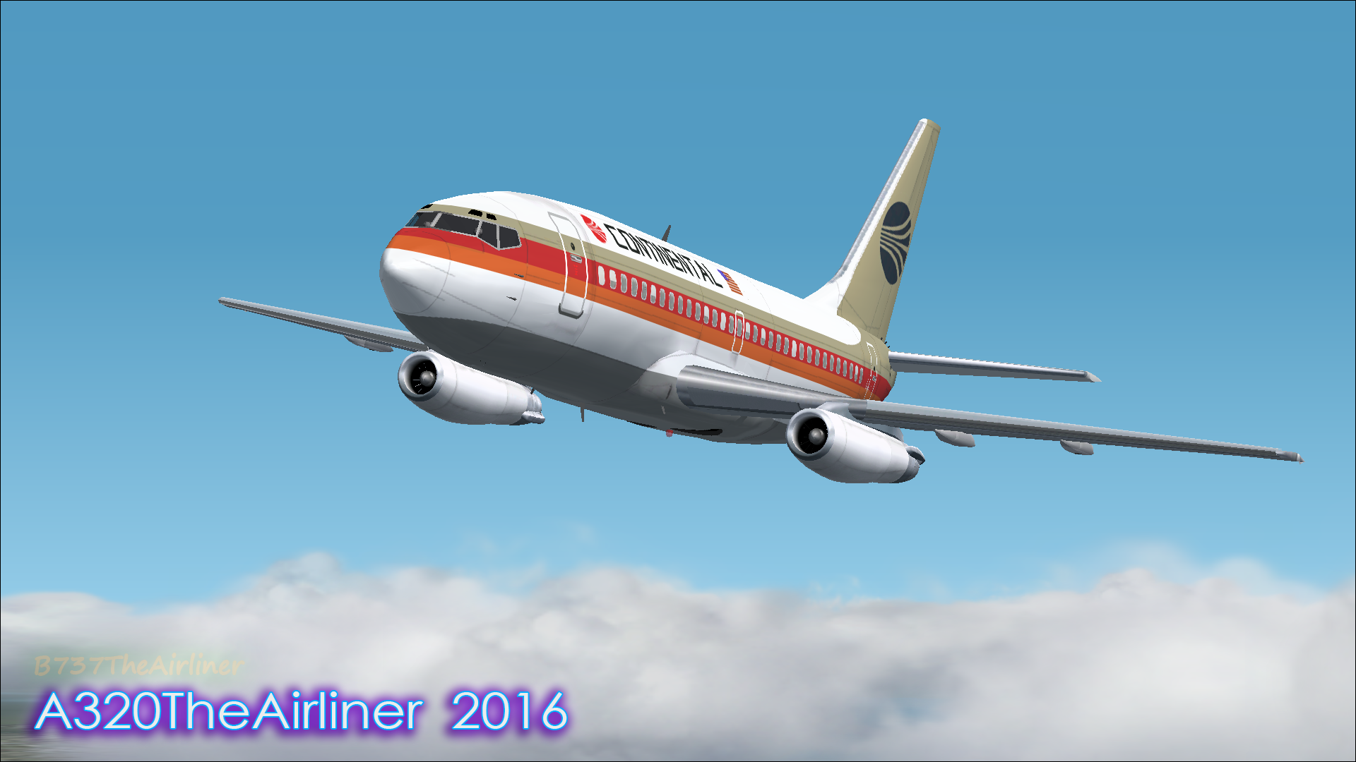 For Nostalgia! - Continental 737-200 FS2002 by