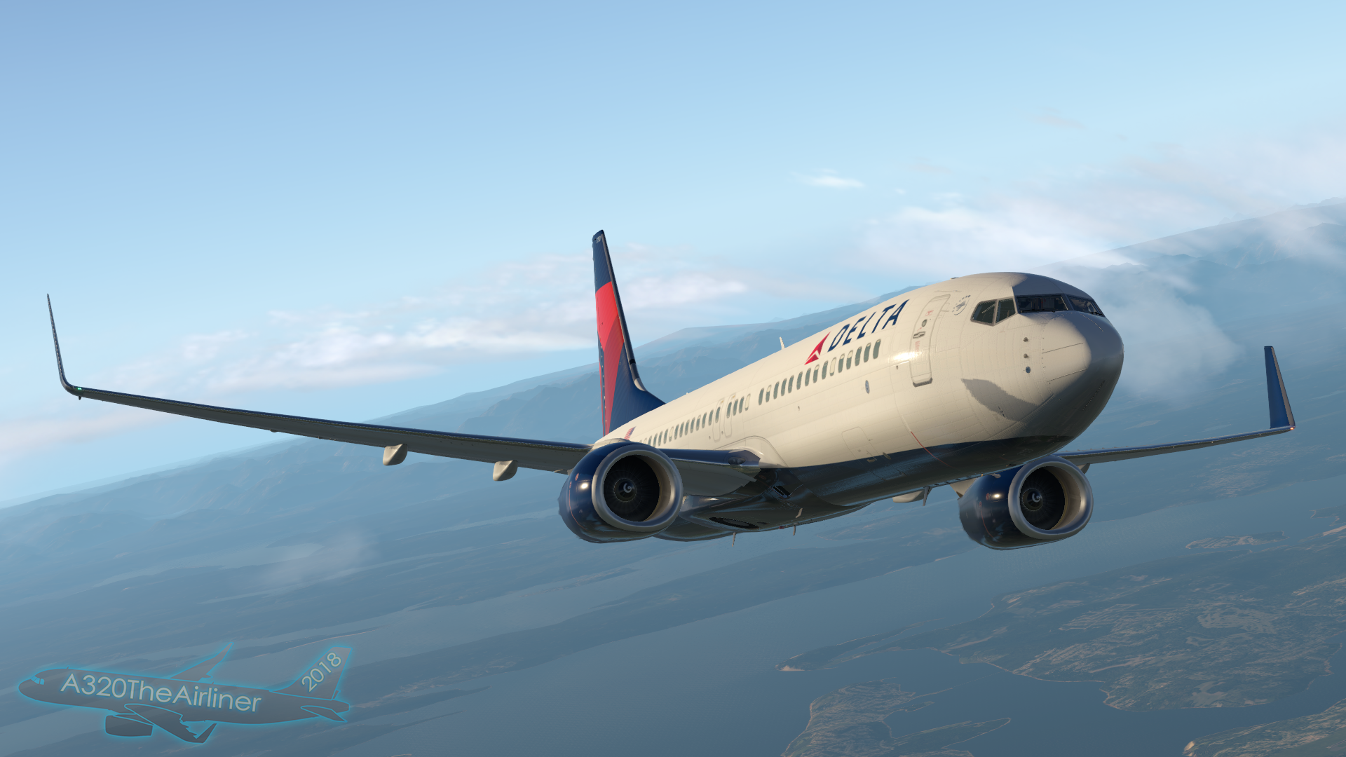 Delta Air Lines Wallpaper: X-Plane 11 By A320TheAirliner