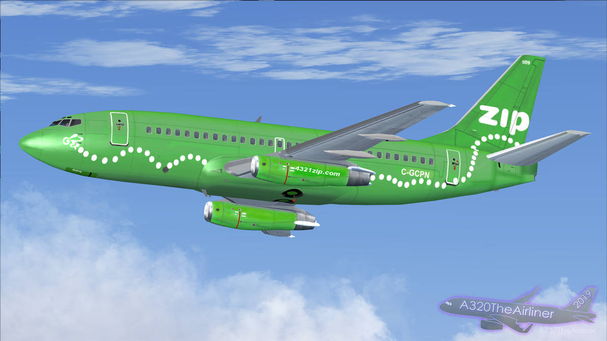 ZIP Airlines - Boeing 737-200 - FS9 by A320TheAirliner on DeviantArt