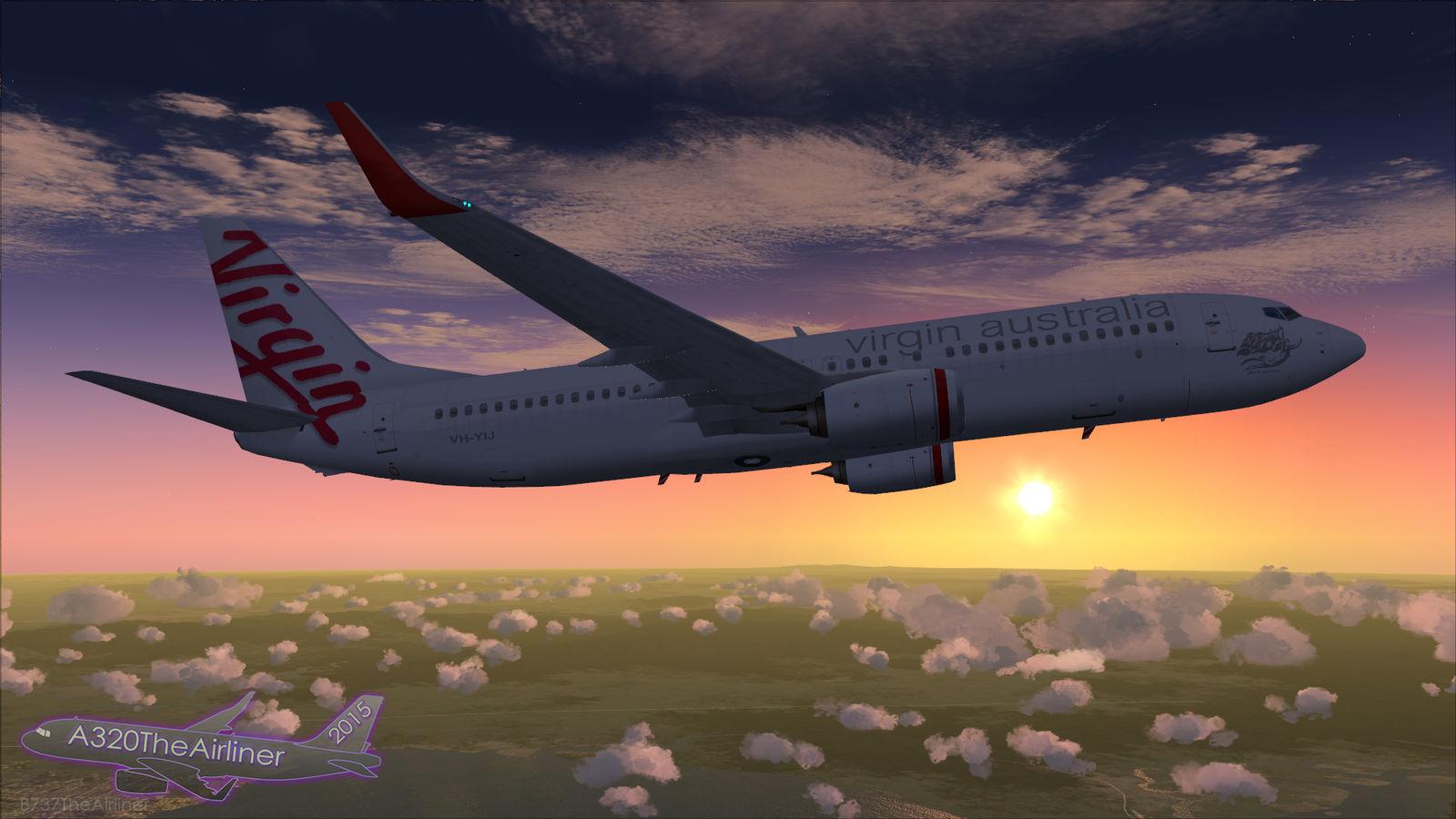 Virgin Australia 737-800 - Sunset Flight - FSX by