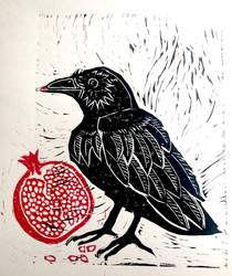 Raven And Pomegranate
