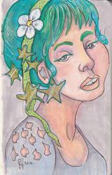 Stars in her hair