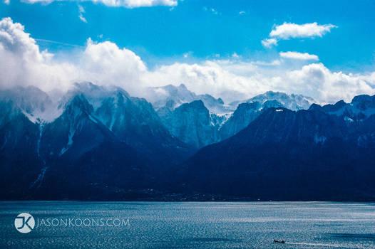 Mountains | Lac Leman, Chardonne, Switzerland