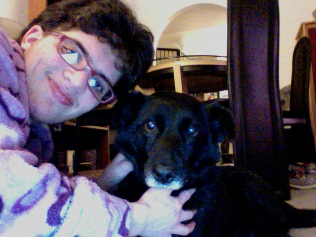 Me and my dog Shadow by giantstorylover