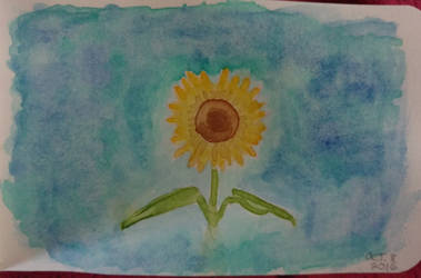 Simple Sunflower by LilithDay