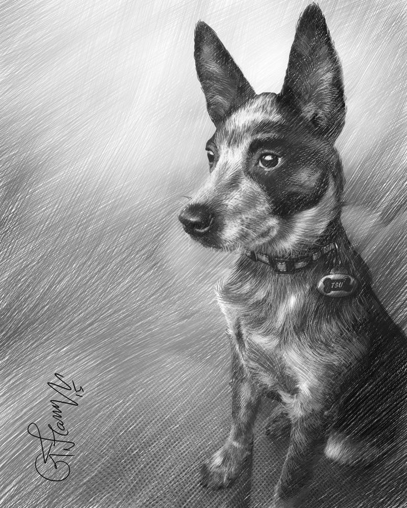 Dog Sketch by gfaruque