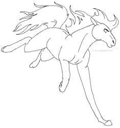 Horses Kicks - LINEART