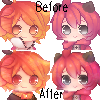 .:Icons : Before+After:. by InkHeartPaw