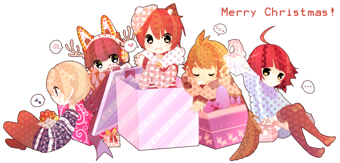 .:Merry Christmas 2012:. by InkHeartPaw