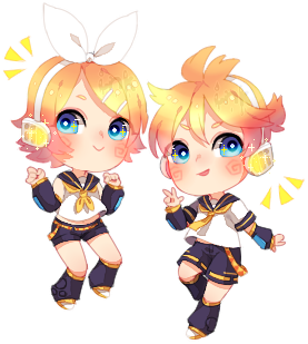 [Fan Art] Kagamine Twins by InkHeartPaw