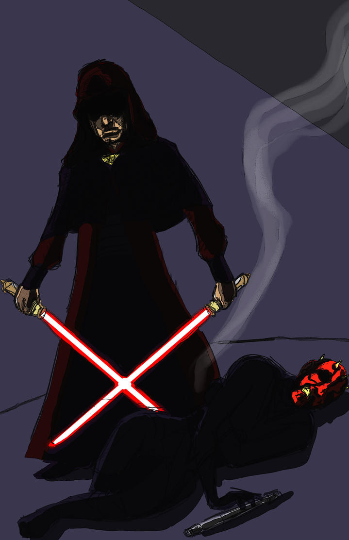 Sith Training Darth Sidious And Maul By Starguy13