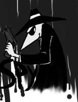 Spy vs Spy Fanart: Black Spy by RougeTek