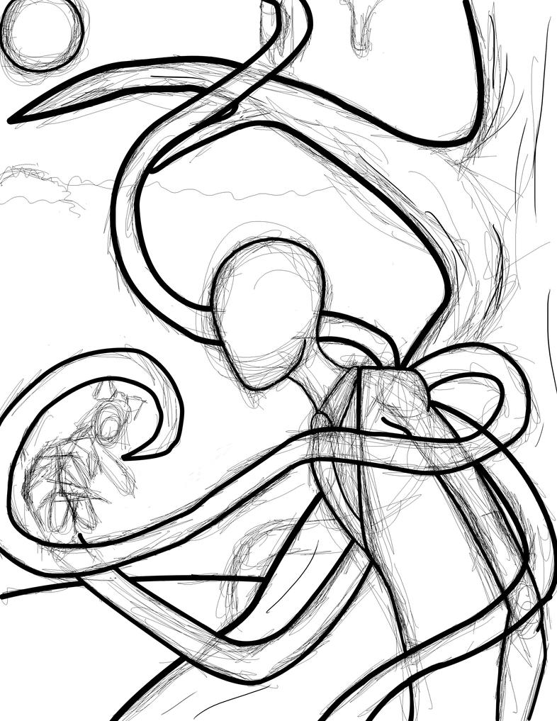 Color lineart in photoshop - Slender Man Photoshop Wip By Rougetek