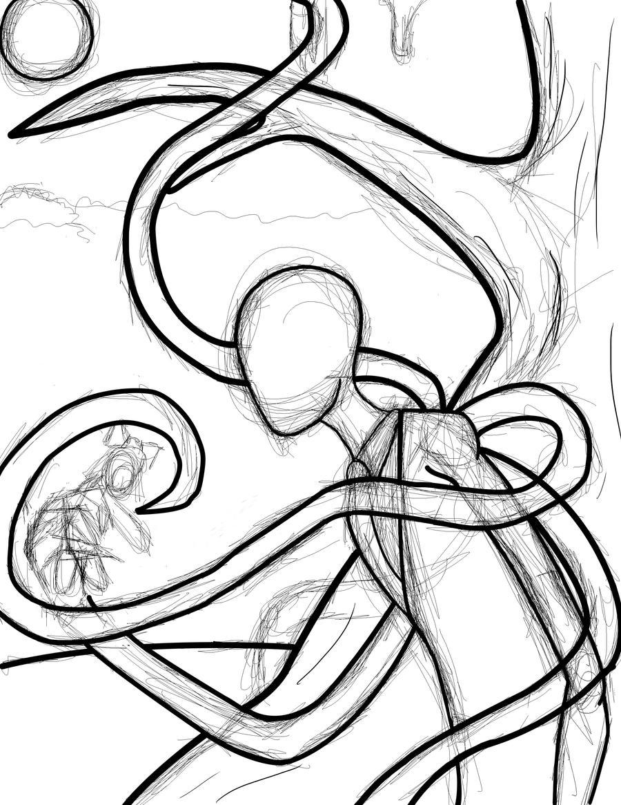 Line Art Man : Slender man photoshop wip by rougetek on deviantart