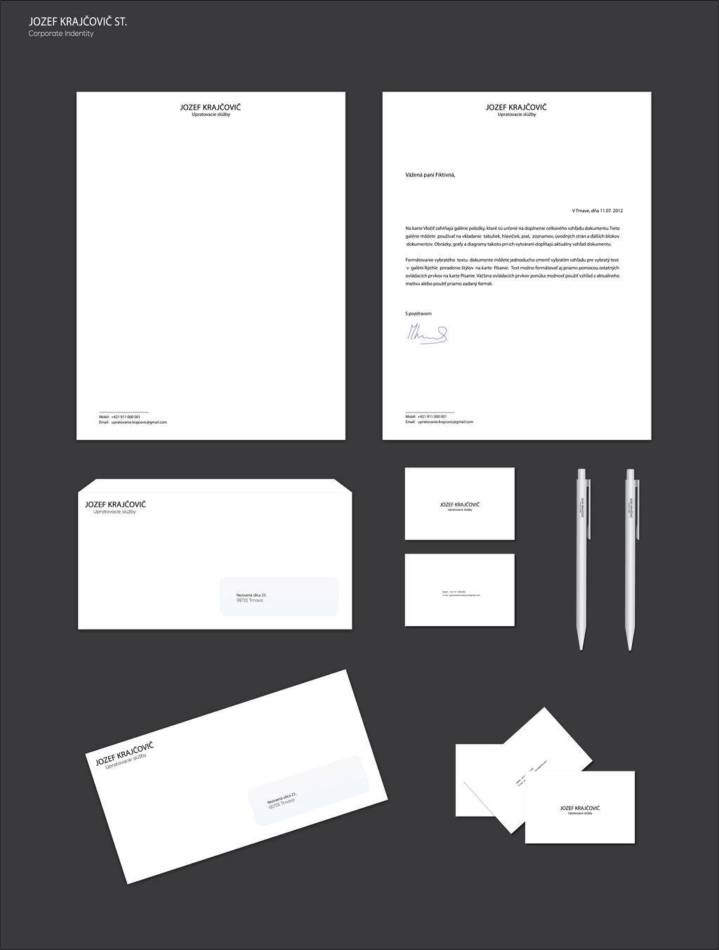 Visual Identity for Cleaning services