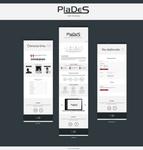 Web design (mockups) for application PlaDeS