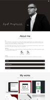 Design for my personal website by jozef89