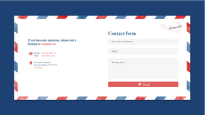 Contact form for website