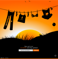 Illustration a web footer by jozef89