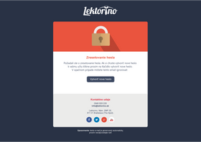 Lektorino - email reset password by jozef89