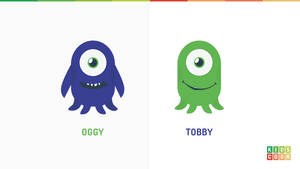 Flat monsters for project Kidscodr by jozef89