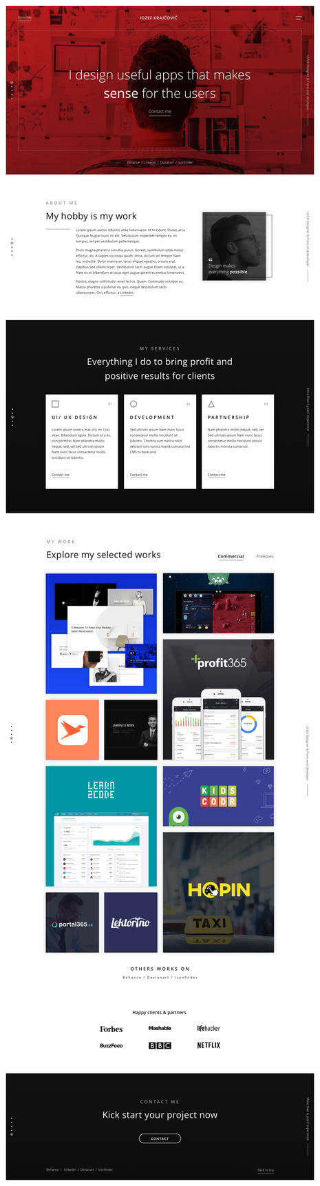 Redesing of my website by jozef89