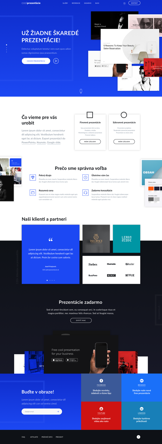 Landing page for coolPrezentacie by jozef89