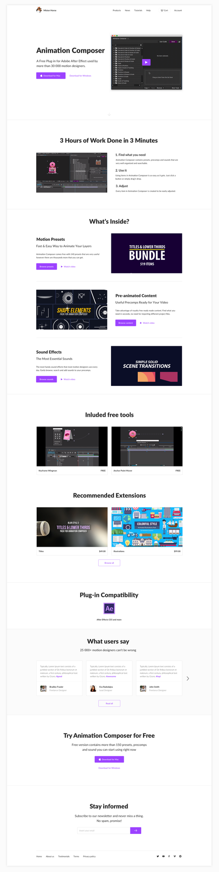 Homepage for Animation Composer by jozef89