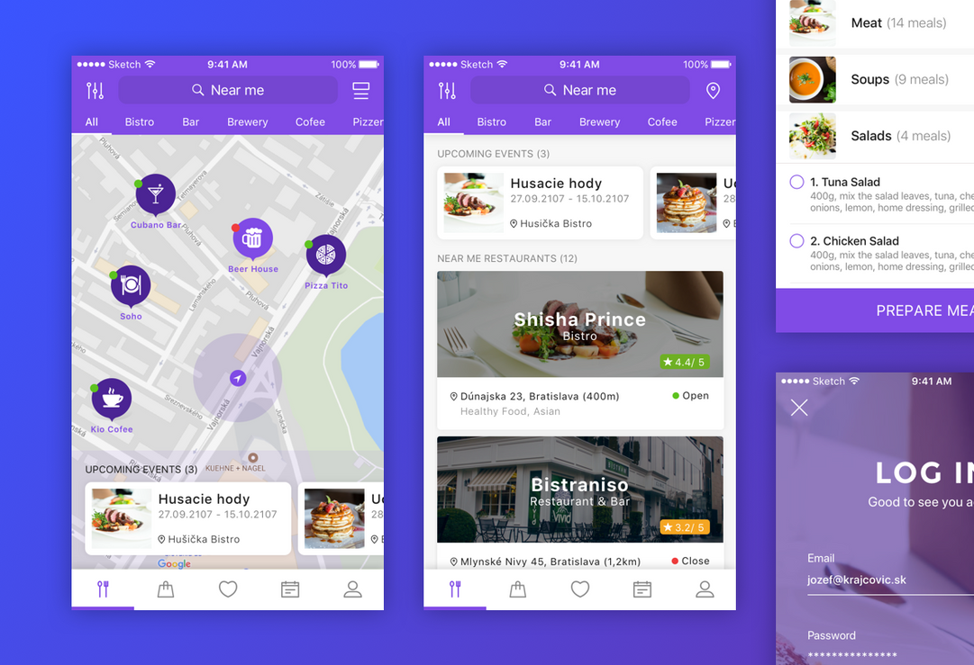 Restaurant reservation app by jozef89