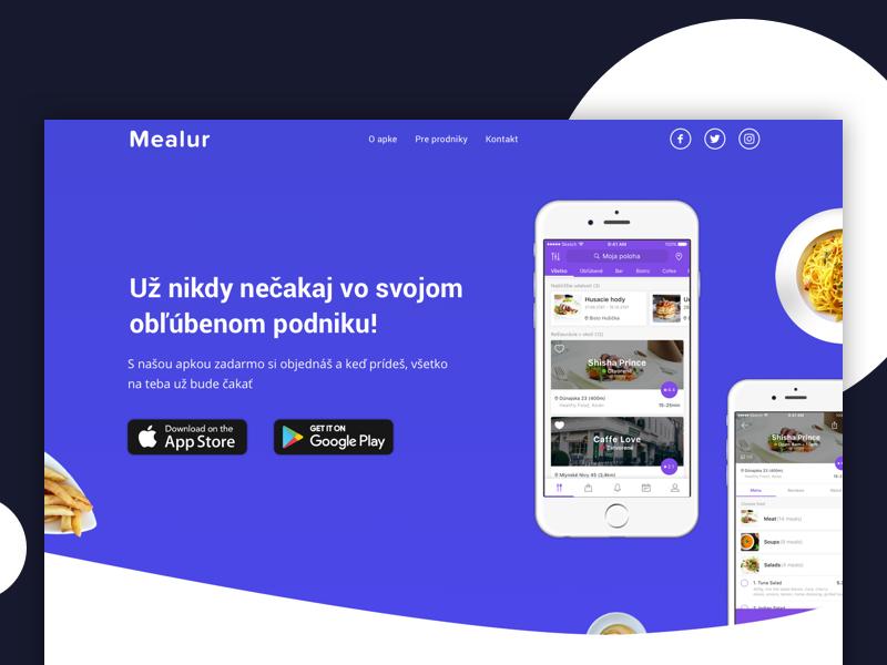 Mealur website by jozef89