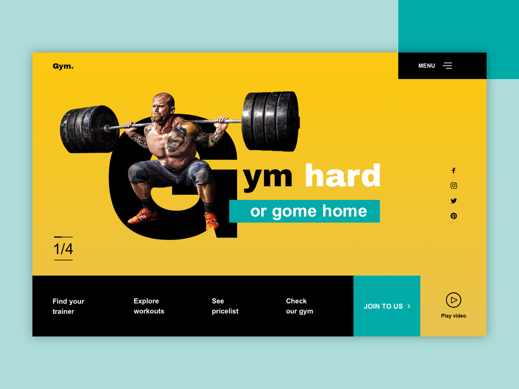 Gym header by jozef89