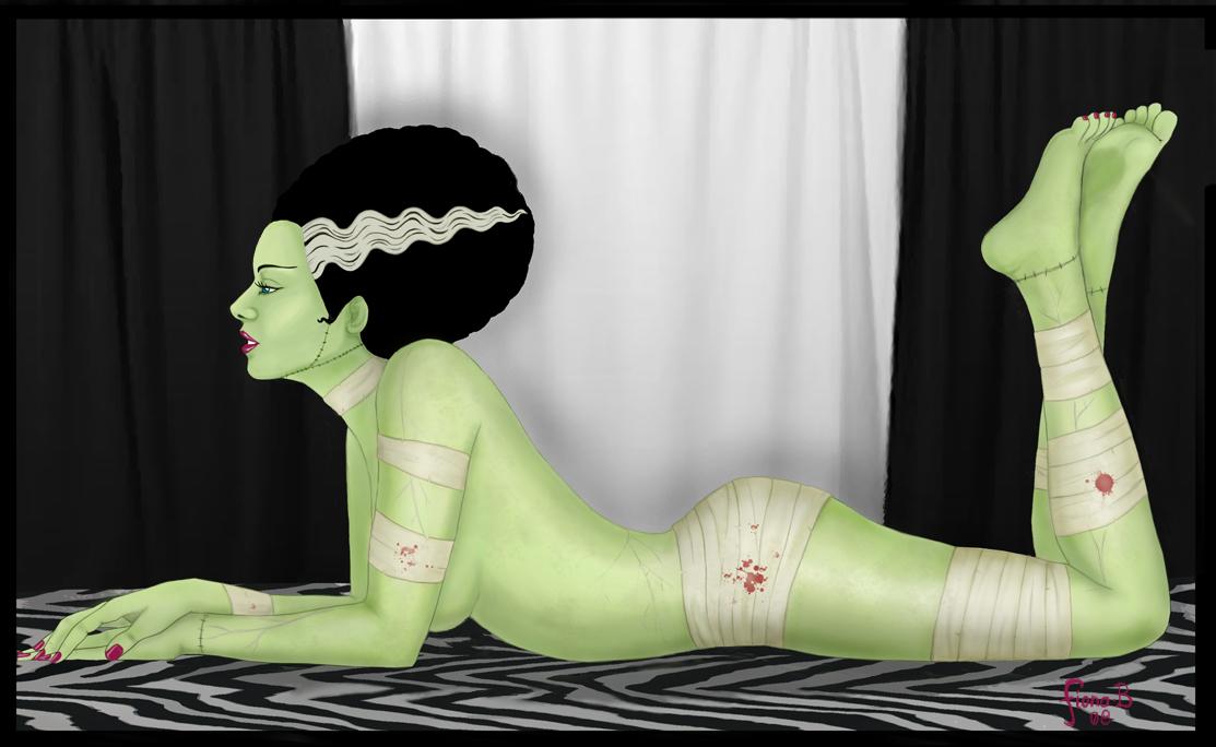 The Bride of Frankenstein by FionaStrange