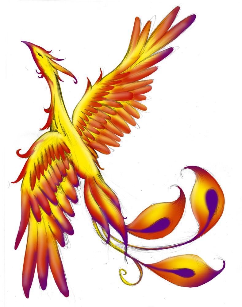 Phoenix Tattoo WIP 2 by plnstgfx