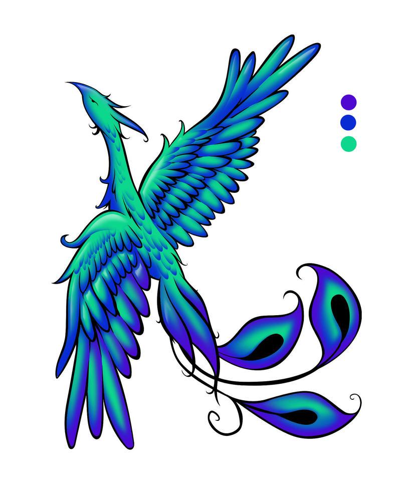 Phoenix Tattoo wip 3 by plnstgfx