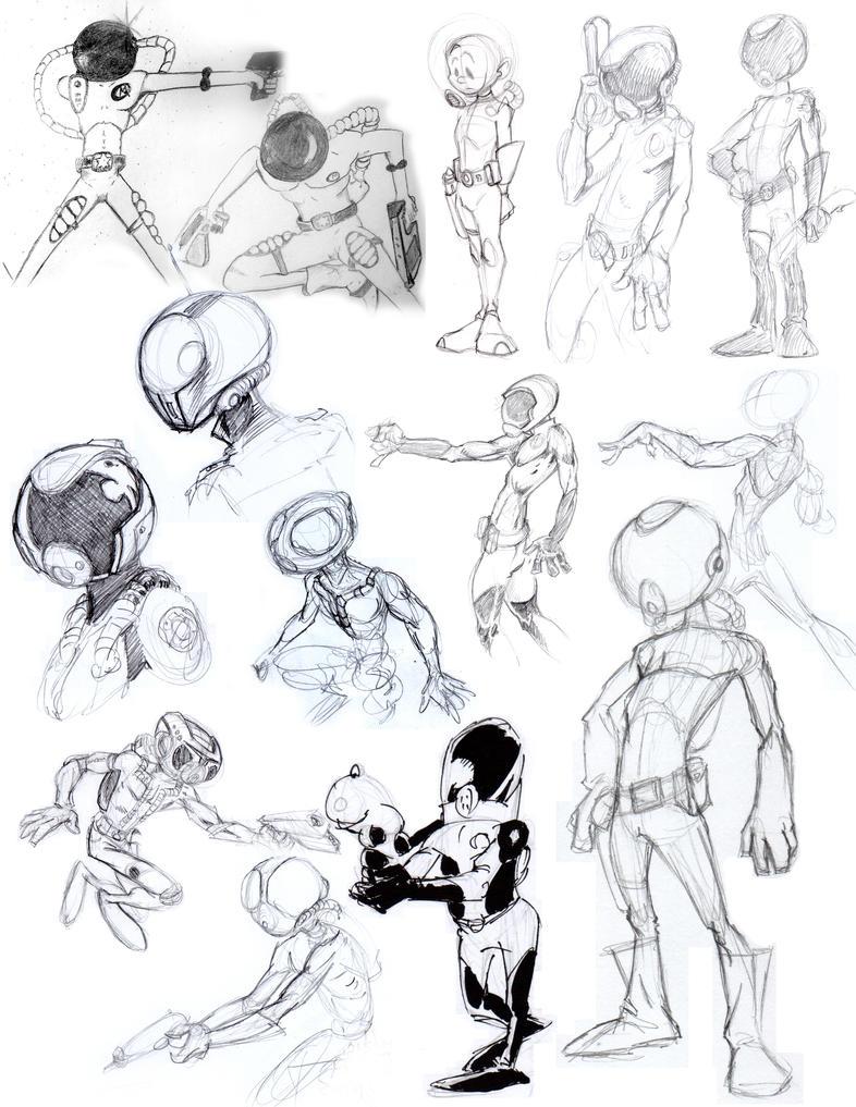 Marshal Sketches by plnstgfx