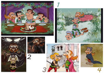 Asterix art dump by koshechkazlatovlaska