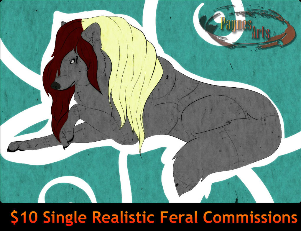 $10 Single Feral Commissions Open by Business-of-Misery