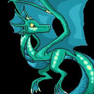 Cyan (dragon form) pixel art by SnapDragonStudios