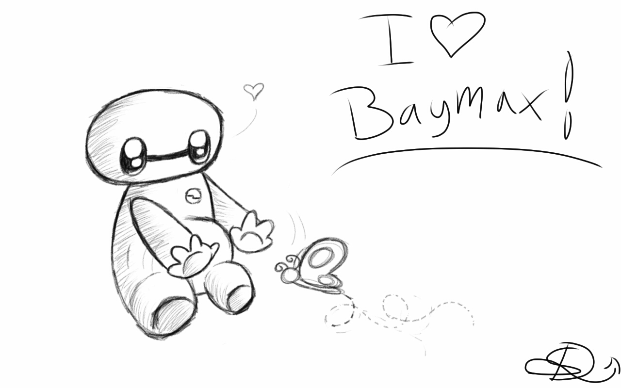 Chibi Baymax With A Butterfly By SpasDragonStudios On DeviantArt