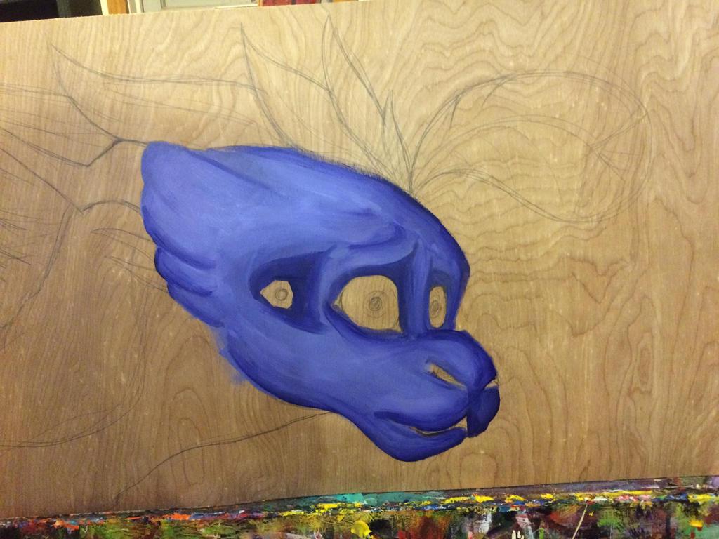 Painting WIP by SpasDragonStudios
