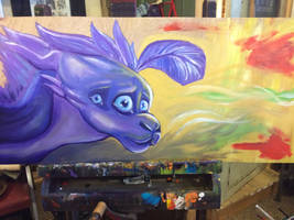 'nuther wip of the painting for art class by SpasDragonStudios