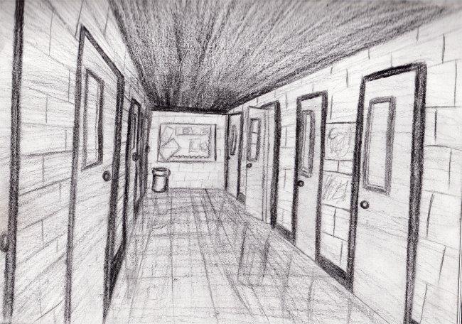Highschool Hallway By Ashsky On Deviantart
