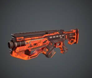 Space gun sci fi concept weapon