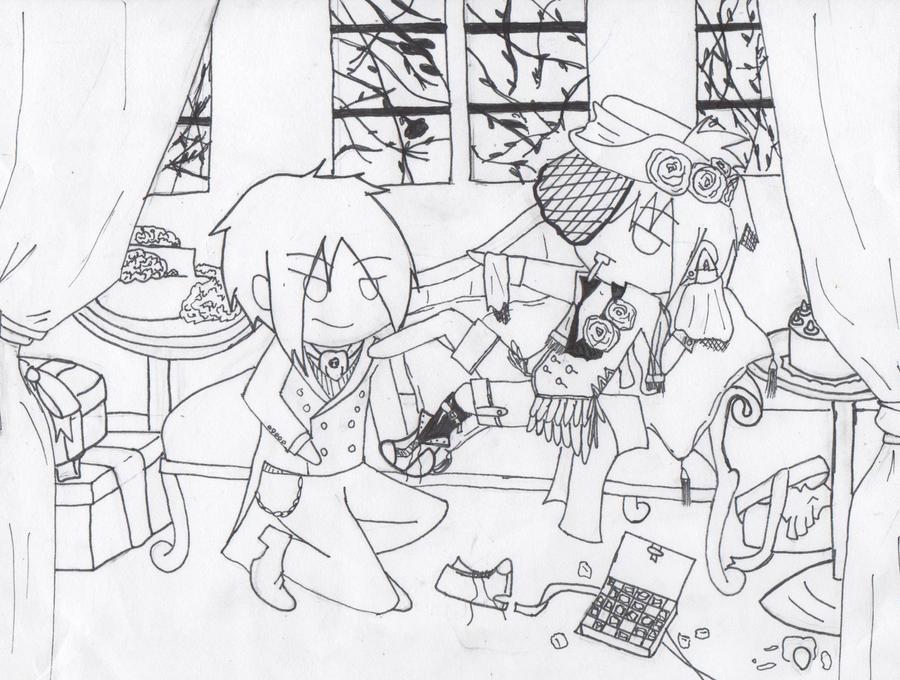 black butler chibi by lil shiro chan - Black Butler Chibi Coloring Pages
